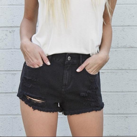 873707f17e PacSun Shorts | Black Rinse Ripped | Poshmark